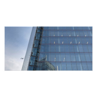 The Shard London and Jet Aircraft Photo Card Template