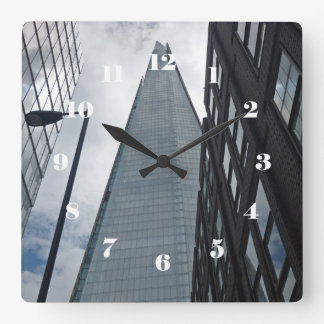 The Shard, London face with numbers Clock
