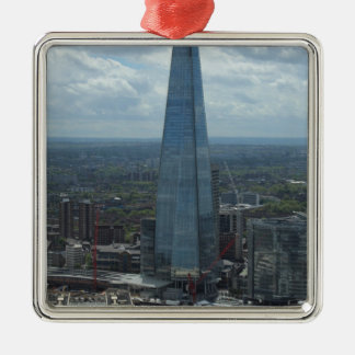 The Shard, London Silver-Colored Square Decoration
