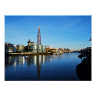 The Shard of Glass and City Hall in London Poster