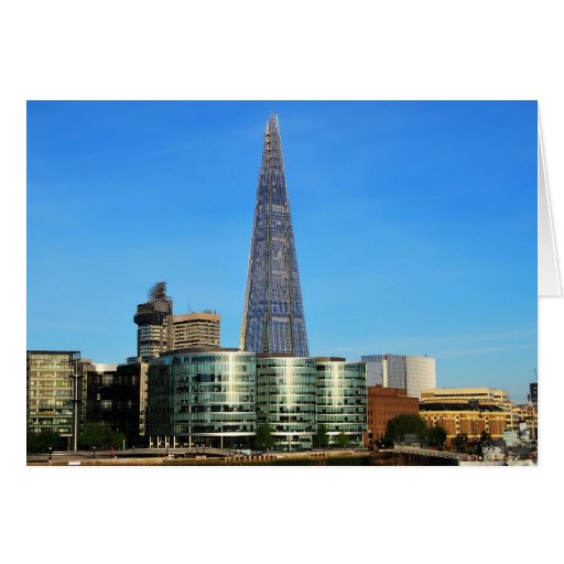 The Shard of Glass in London Greeting Cards
