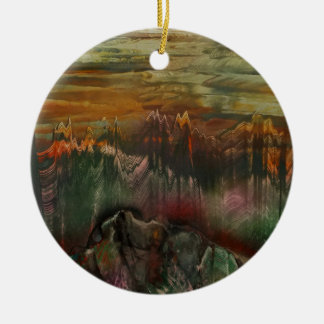 The Sharded Landscape Round Ceramic Decoration