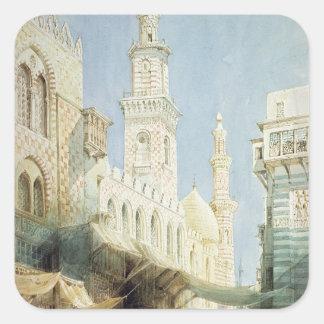 The Sharia El Gohargiyeh, Cairo Square Sticker