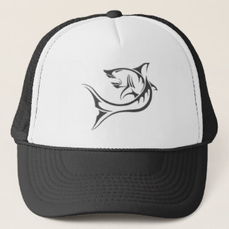 the shark tattoo trucker hat