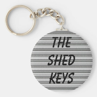 The Shed Keys Basic Round Button Key Ring