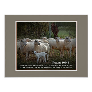 The Sheep of His PasturewScripture Poster