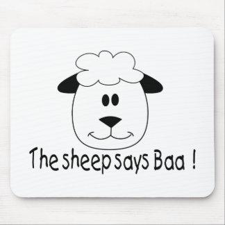 The Sheep Says Baa Mousepads