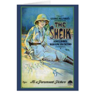 The Sheik Rudolof Valentino Greeting Card