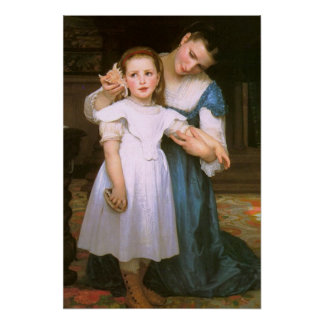 The Shell by William Bouguereau Poster