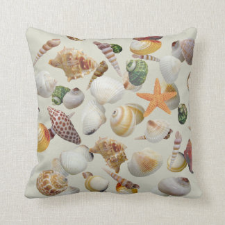 The Shell Collector Throw Pillow
