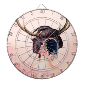 THE SHELL DARTBOARD WITH DARTS