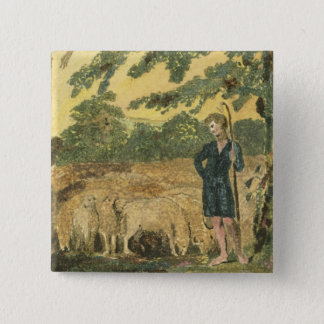 The Shepherd, from 'Songs of Innocence', 1789 (col 15 Cm Square Badge