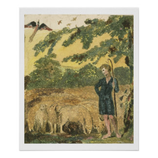 The Shepherd, from 'Songs of Innocence', 1789 (col Poster