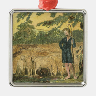 The Shepherd, from 'Songs of Innocence', 1789 (col Silver-Colored Square Decoration