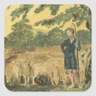 The Shepherd, from 'Songs of Innocence', 1789 (col Square Sticker