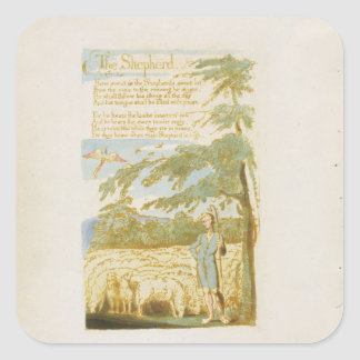 'The Shepherd', plate 15 from 'Songs of Innocence' Square Sticker