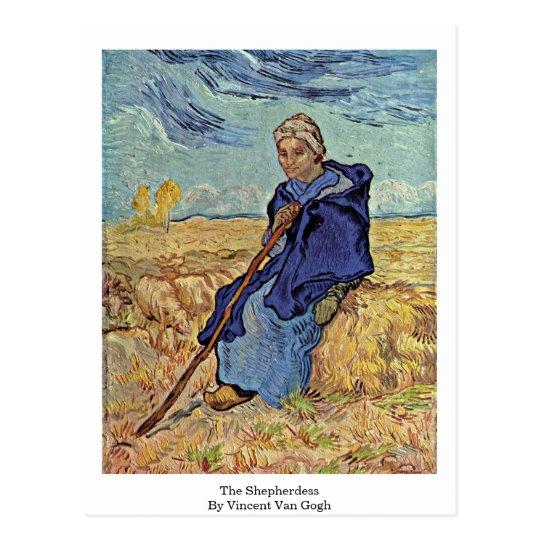 The Shepherdess By Vincent Van Gogh Postcard