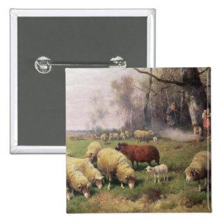 The Shepherd's Family 15 Cm Square Badge