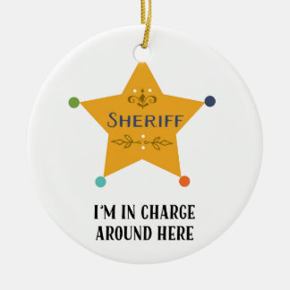 The Sheriff Christmas Ornament
