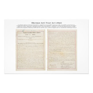 The Sherman Antitrust Act July 2 1890 Stationery Paper
