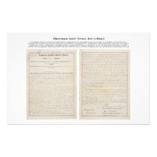 The Sherman Antitrust Act July 2 1890 Stationery Paper