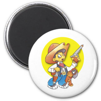The Sherrif 6 Cm Round Magnet