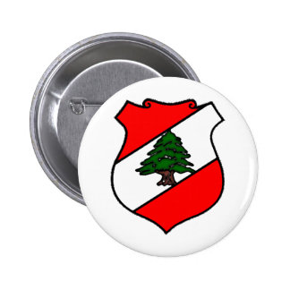 The Shield of Lebanon 6 Cm Round Badge