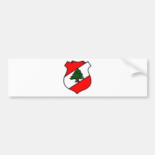 The Shield of Lebanon Bumper Stickers