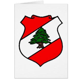 The Shield of Lebanon Greeting Card