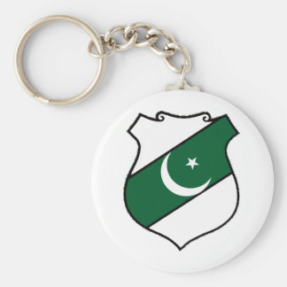The Shield of Pakistan Basic Round Button Key Ring