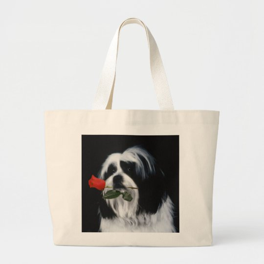 The Shih Tzu Dog Large Tote Bag
