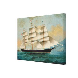 The Ship Fleetwing, Hong Kong Bay Canvas Print