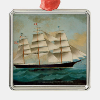 The Ship Fleetwing, Hong Kong Bay Christmas Ornament