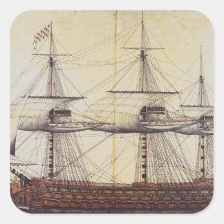 The Ship 'La Ville de Paris' Square Sticker