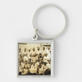 The ship s cooks aboard the R M S Teutonic b w p Keychain