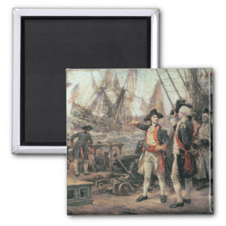 The ship that sank the Victory, 1779 Square Magnet