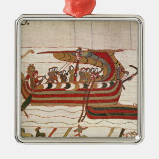 The Ships are Blown by the Winds Silver-Colored Square Decoration