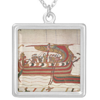 The Ships are Blown by the Winds Silver Plated Necklace