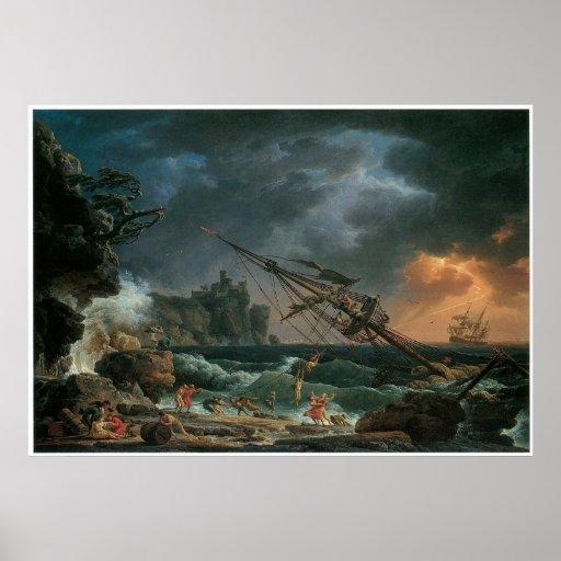 The Shipwreck, Claude-Joseph Vernet Print