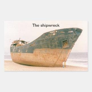 (The shipwreck Sticker) Rectangular Sticker