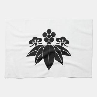 The Shochiku Co., Ltd. plum autumn bellflower Tea Towel