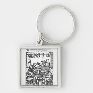 The Shoe Maker Silver-Colored Square Key Ring
