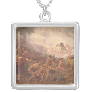 The Shooting of General Braddock Silver Plated Necklace