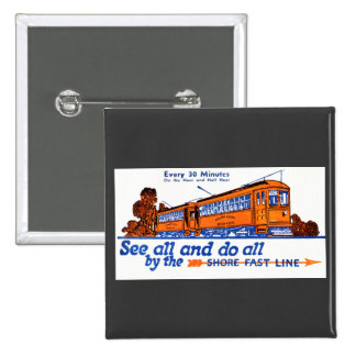 The Shore Fast Line Trolley Service 15 Cm Square Badge