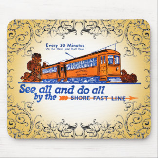 The Shore Fast Line Trolley Service Mouse Pad