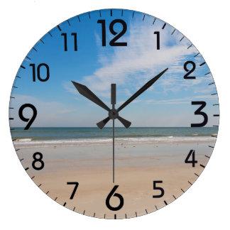 The shoreline at Jacksonville Beach, Florida Large Clock