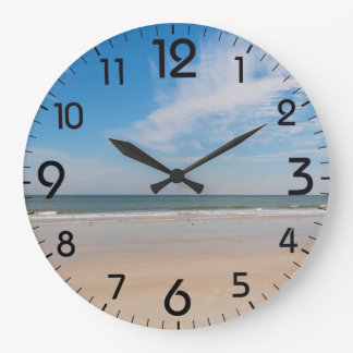 The shoreline at Jacksonville Beach, Florida Wall Clocks