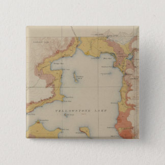 The Shores of Yellowstone Lake 15 Cm Square Badge
