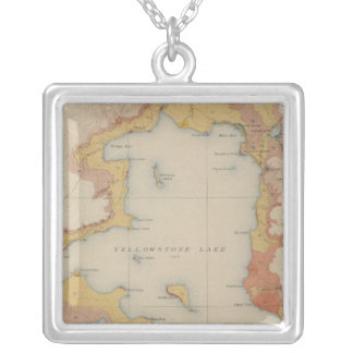 The Shores of Yellowstone Lake Square Pendant Necklace