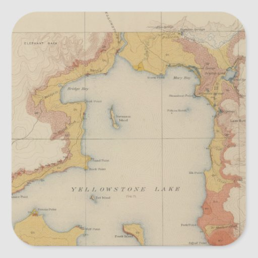 The Shores of Yellowstone Lake Sticker